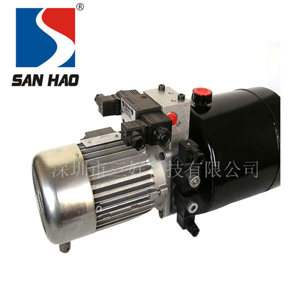 Double-acting miniature hydraulic power unit