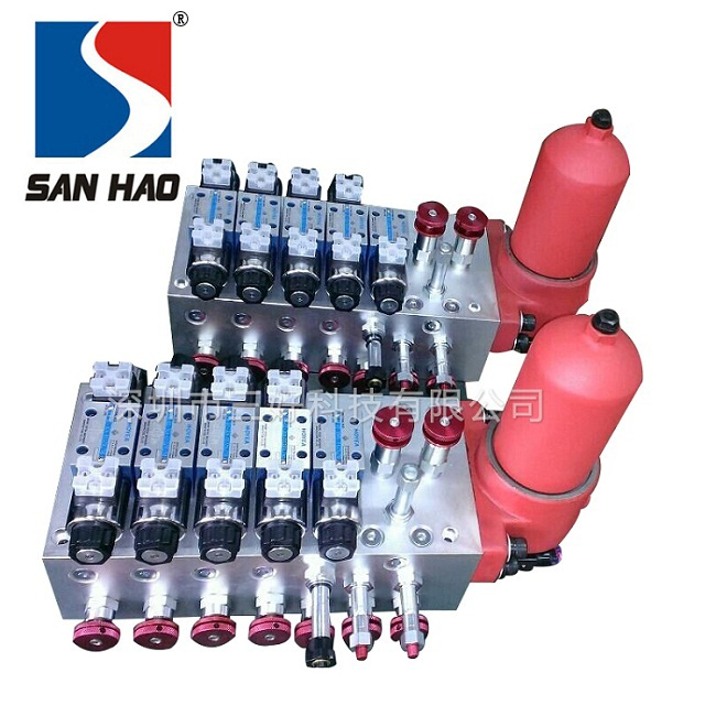 According to user requirements designed multi-function hydraulic valve group